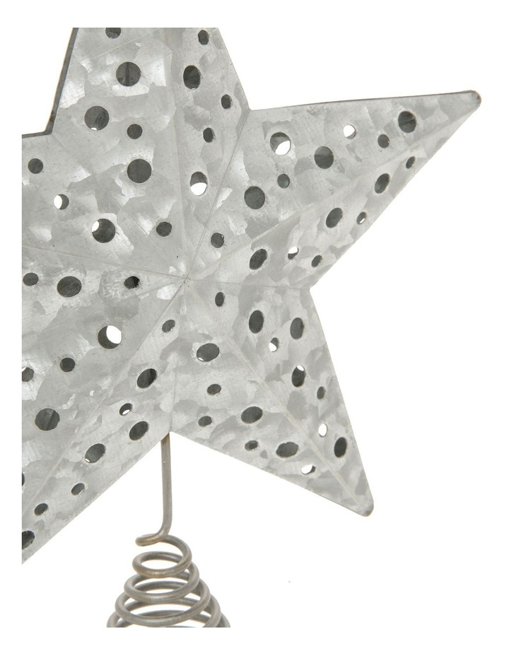Eucalyptus Metal Cut-out Star Tree Topper - Silver 23 cm image 4