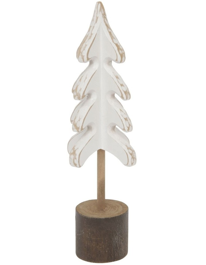 Eucalyptus Small Whitewashed Wood Tree Decoration image 2