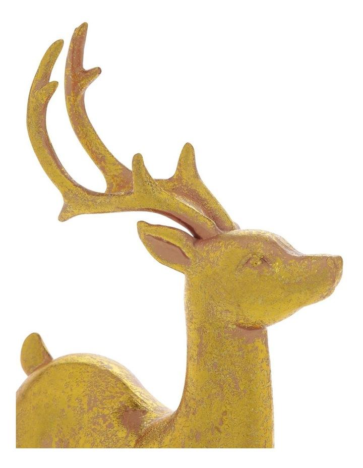 Heirloom Antiqued Gold Standing Reindeer Decoration 22cm image 3