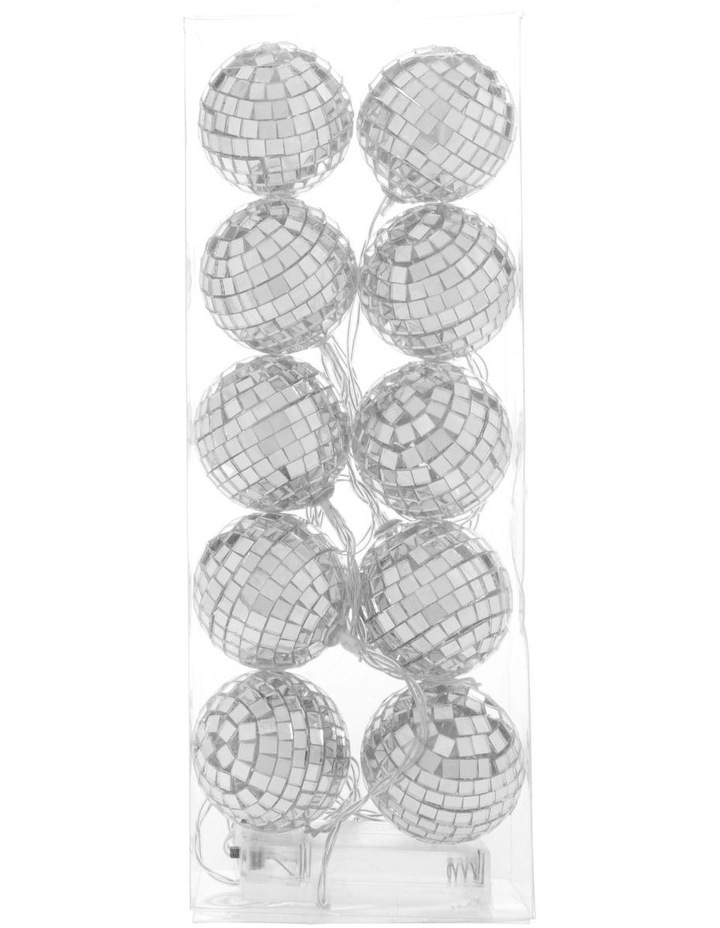 Merry & Bright Silver Mirror Ball LED Garland 160cm image 1