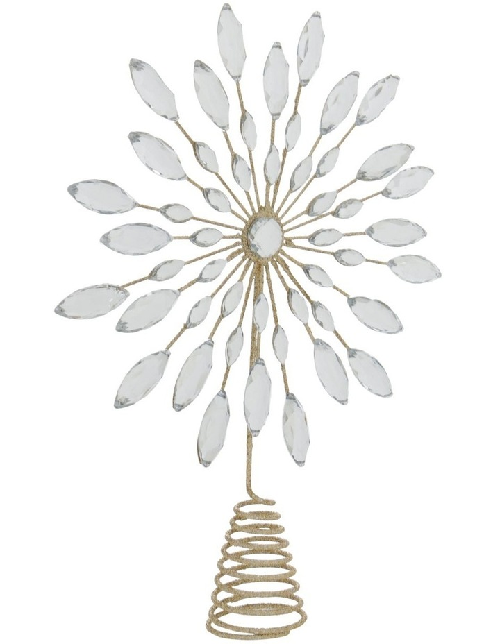 Luxe Champagne Gem & Glitter Snowflake Tree Topper image 3