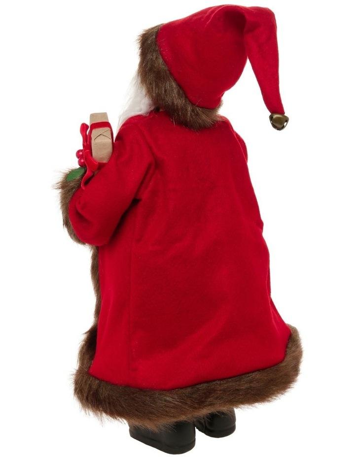 Heirloom Nicholas Fabric Santa Decoration with Gift & Wreath image 2