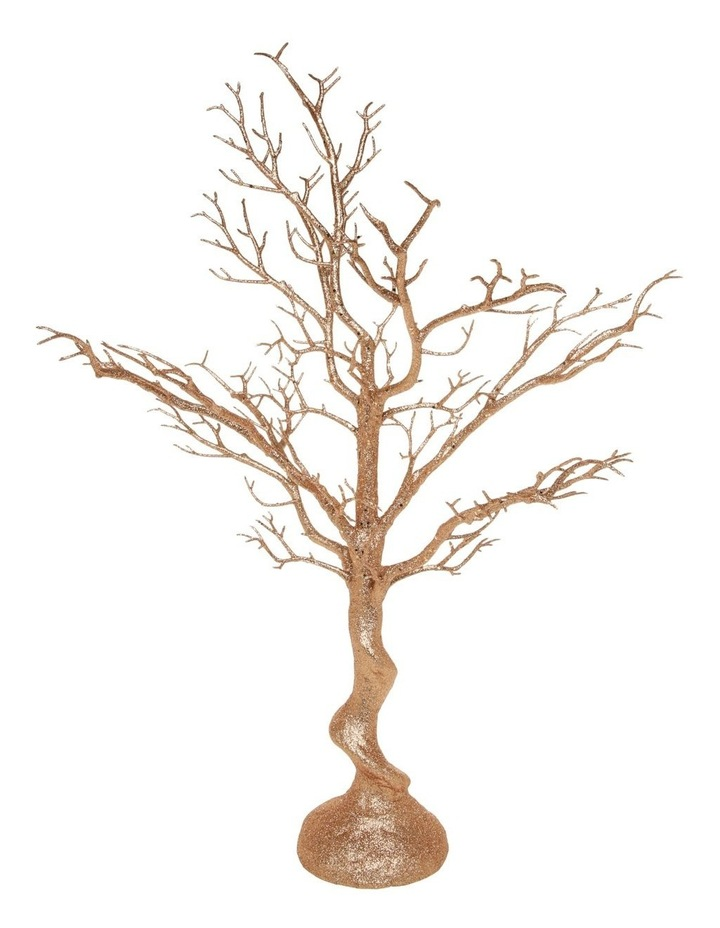Luxe Champagne Glittered Tree Table Decoration image 1