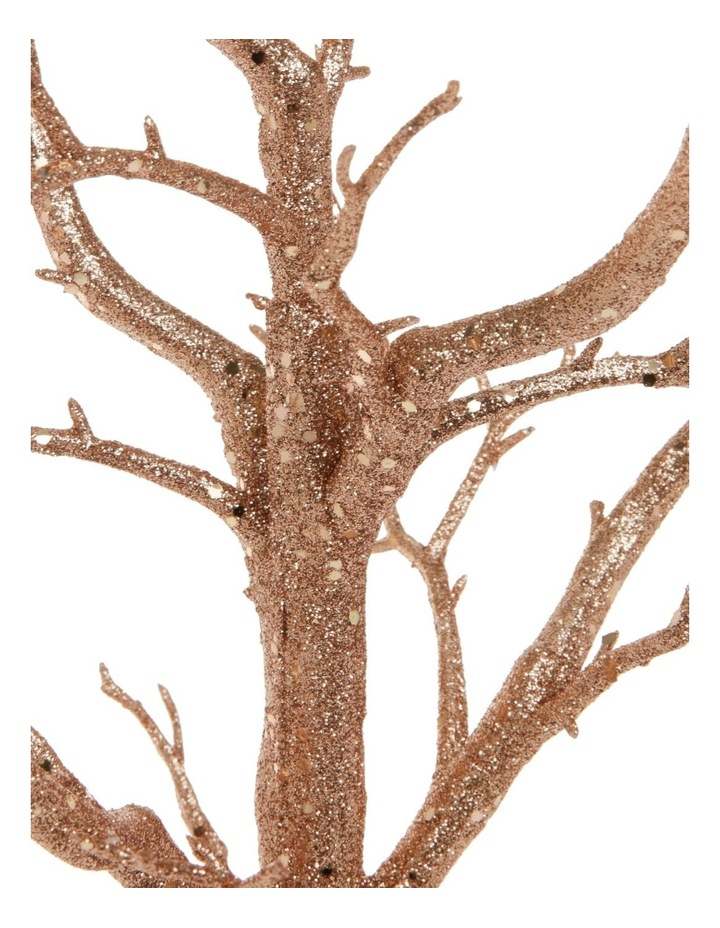 Luxe Champagne Glittered Tree Table Decoration image 2