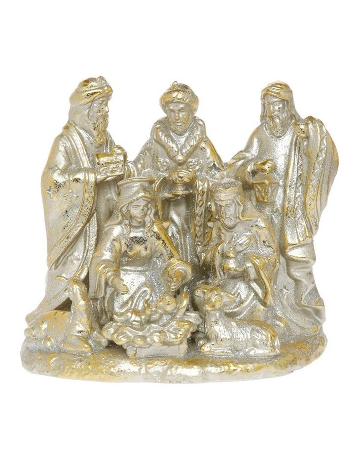 Heirloom Gold Antiqued Nativity Decoration image 1