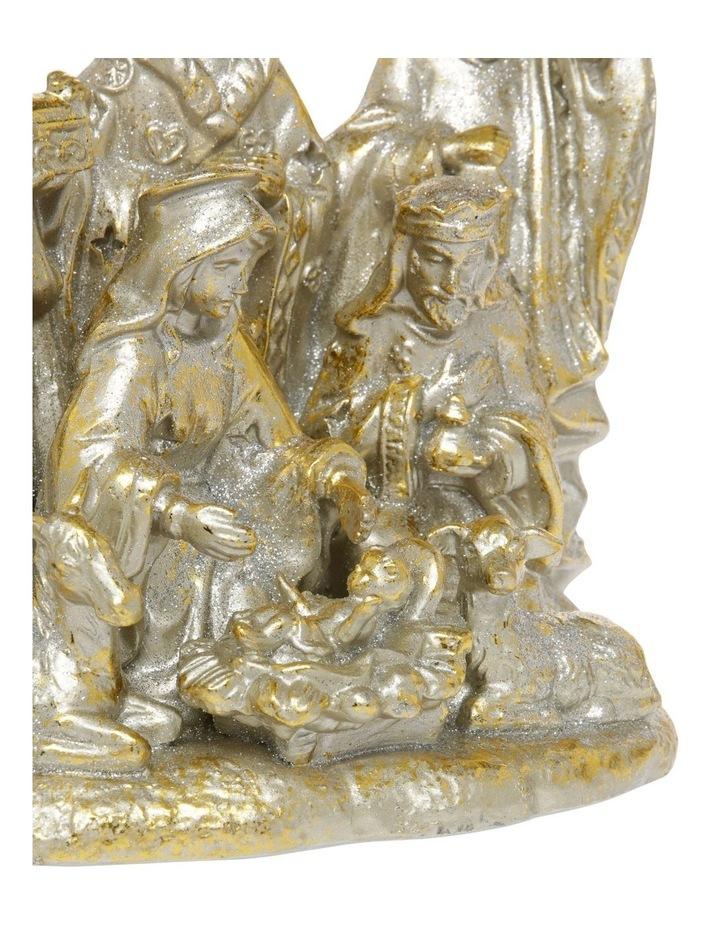 Heirloom Gold Antiqued Nativity Decoration image 3