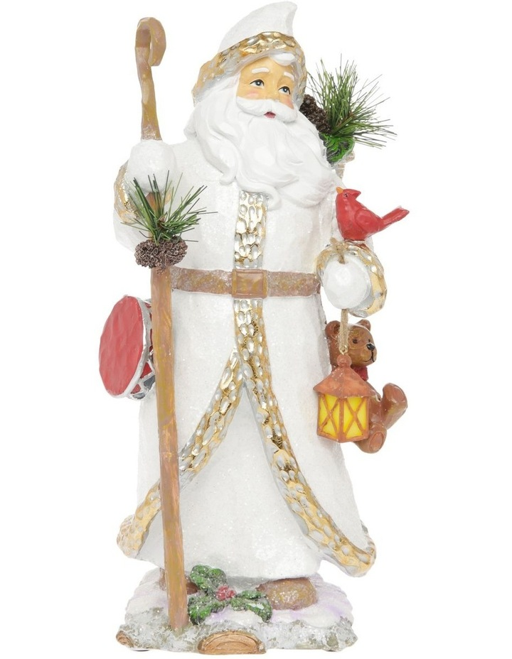 Heirloom Edmund Santa with Teddy & Lantern Decoration image 1