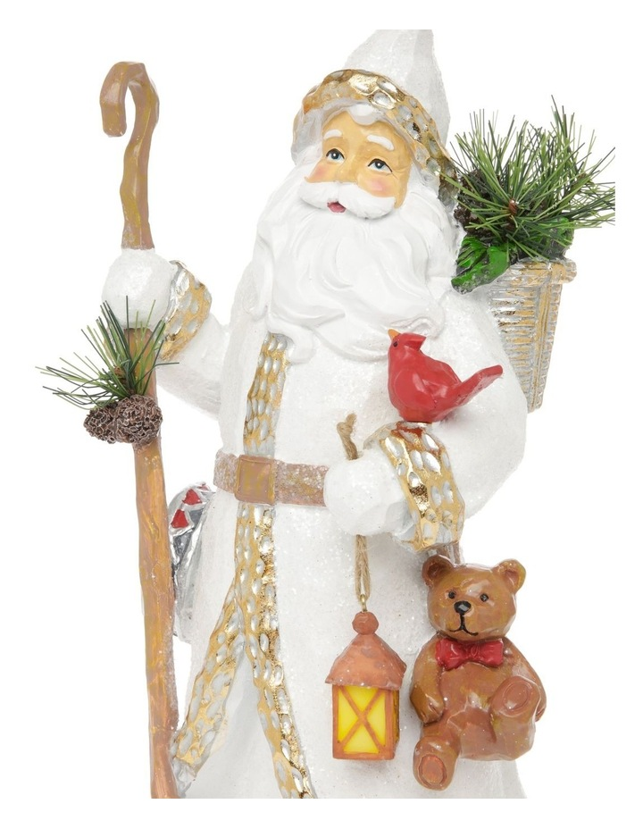 Heirloom Edmund Santa with Teddy & Lantern Decoration image 4