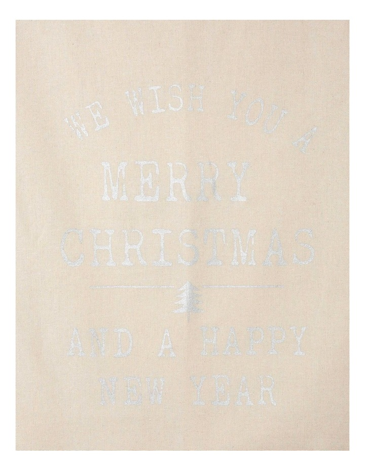 Eucalyptus Christmas Message Gift Sack in Silver image 2
