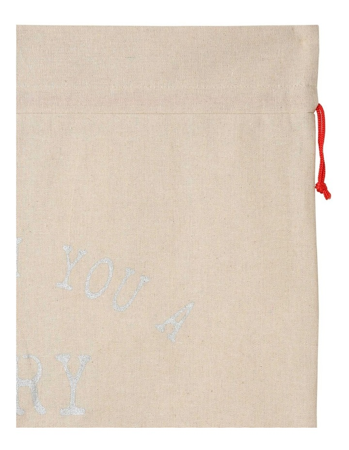Eucalyptus Christmas Message Gift Sack in Silver image 4