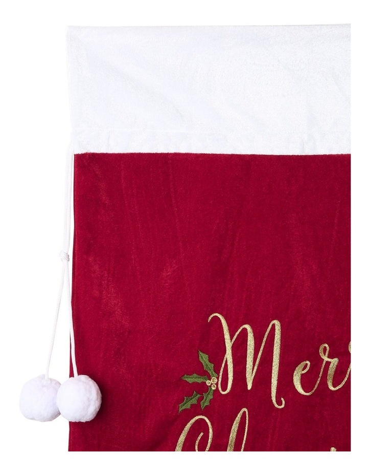 Heirloom Velvet Embroidered 'Merry Christmas' Gift Sack image 4