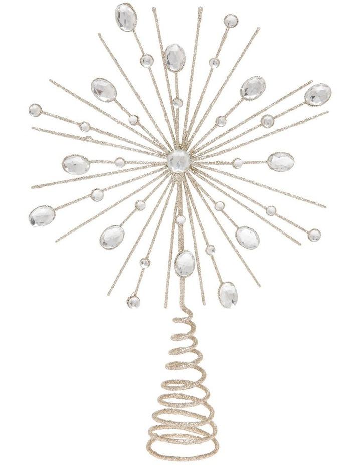 Luxe Champagne Gem & Glitter Starburst Tree Topper image 1