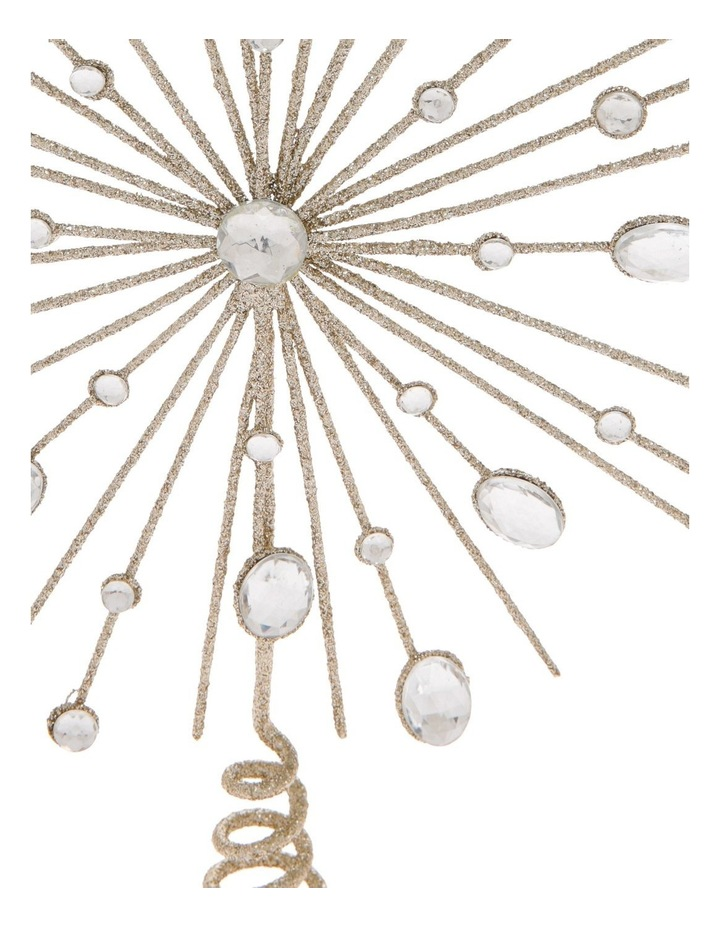 Luxe Champagne Gem & Glitter Starburst Tree Topper image 2