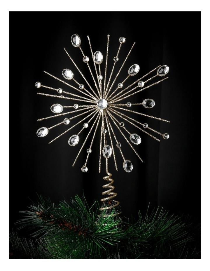 Luxe Champagne Gem & Glitter Starburst Tree Topper image 3