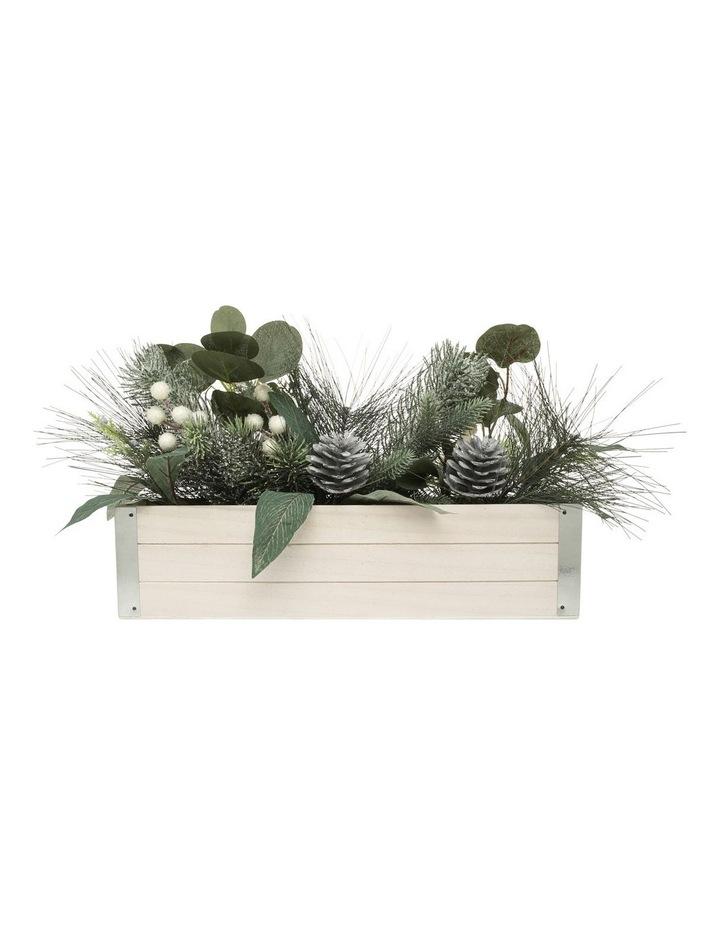 Eucalyptus Faux Pine & Eucalyptus Planter with Pinecones and Berries image 1