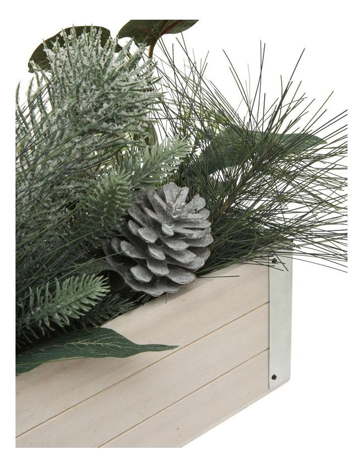 Eucalyptus Faux Pine & Eucalyptus Planter with Pinecones and Berries image 2