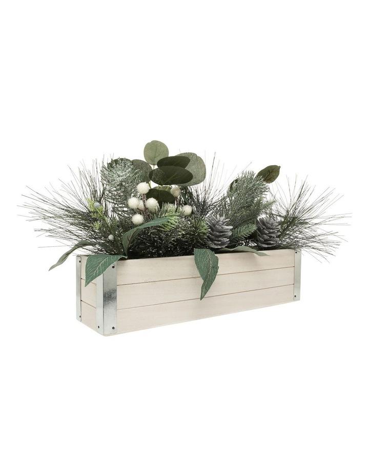 Eucalyptus Faux Pine & Eucalyptus Planter with Pinecones and Berries image 4
