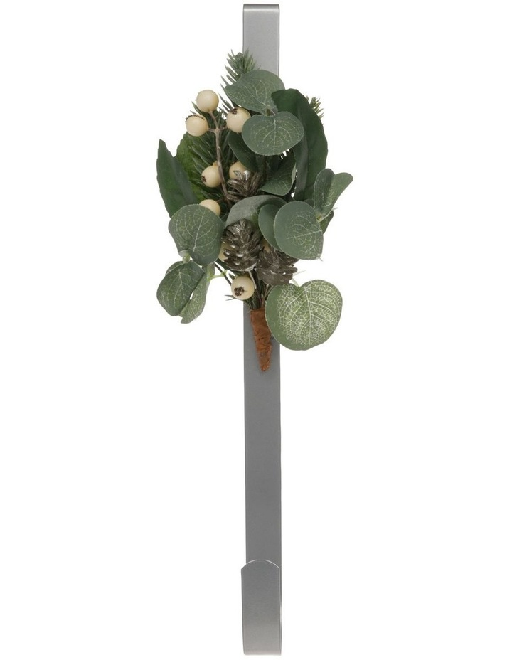 Eucalyptus Wreath Holder with Faux Berries & Pinecones image 1