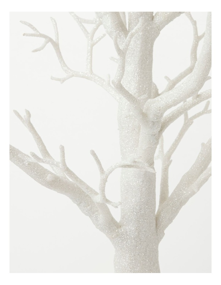 Luxe Glittered Plastic Tree Table Decoration- White: 73cm image 2