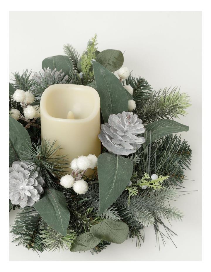 Eucalyptus Plastic Pine, Faux Berry & Foliage Hurricane - Champagne: 10 cm image 3