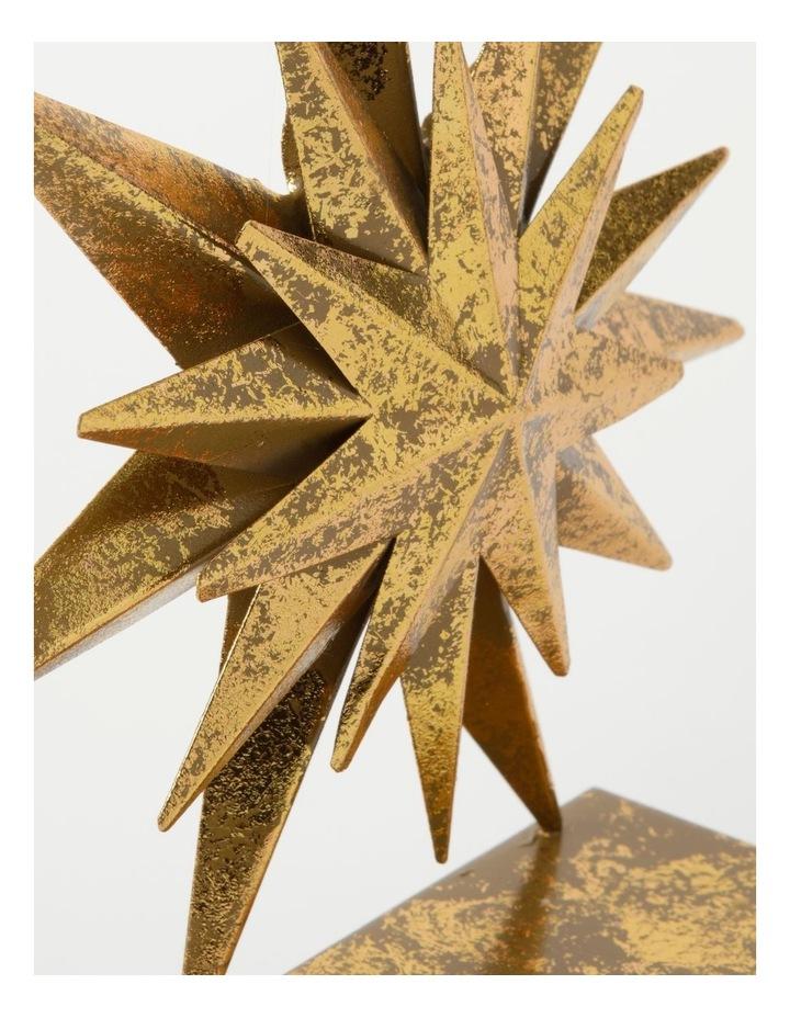 Heirloom Metal Antiqued Star Stocking Holder-Gold: 22cm image 3