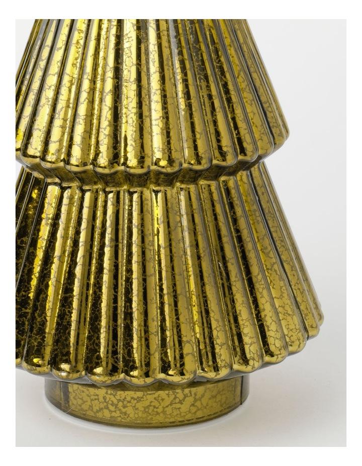 Heirloom Mercurised Glass Tree Decoration- Gold: 30 cm image 2
