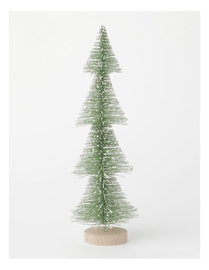 Eucalyptus Plastic Layered Bottle Brush Tree Decoration- Green: 35 cm image 1