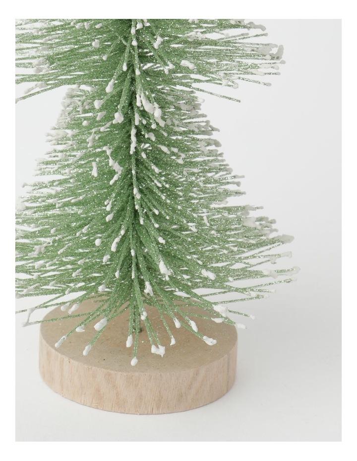 Eucalyptus Plastic Layered Bottle Brush Tree Decoration- Green: 35 cm image 2