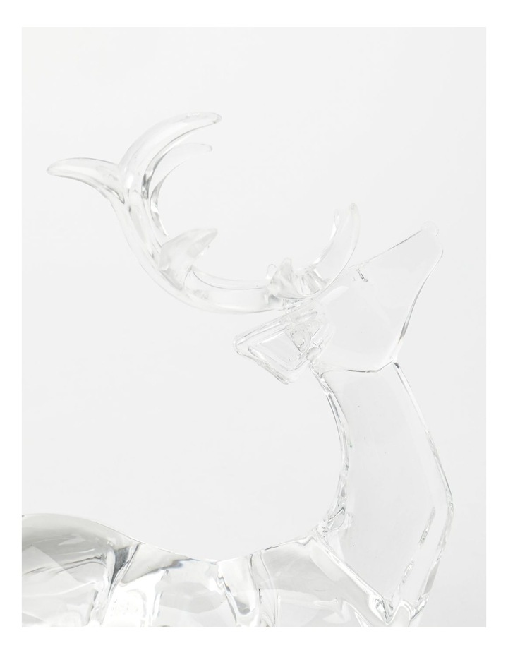 Luxe Acrylic Sitting Reindeer- Clear: 19 cm image 3