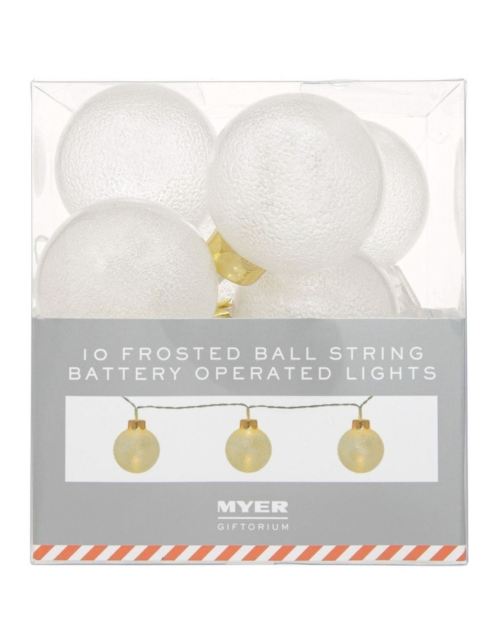 Frosted Bauble Christmas Lights - String of 10 image 1