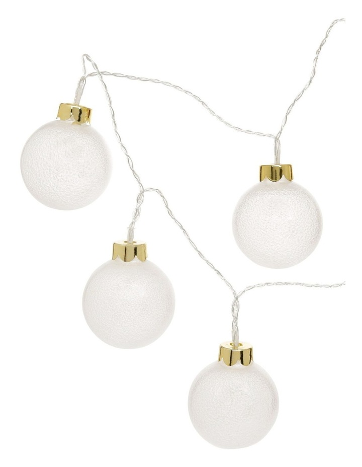 Frosted Bauble Christmas Lights - String of 10 image 2