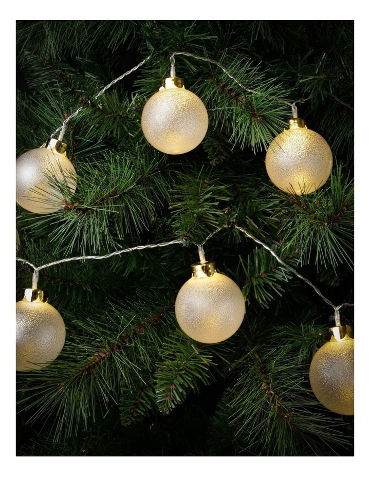 Frosted Bauble Christmas Lights - String of 10 image 3