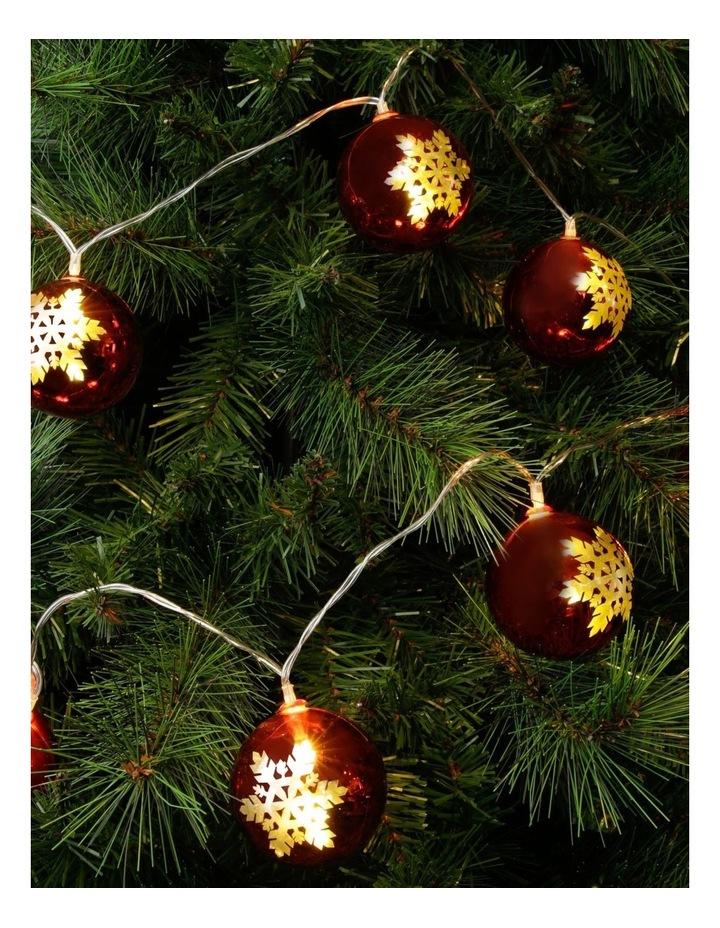 Snowflake Bauble Christmas Lights - String of 10 image 3