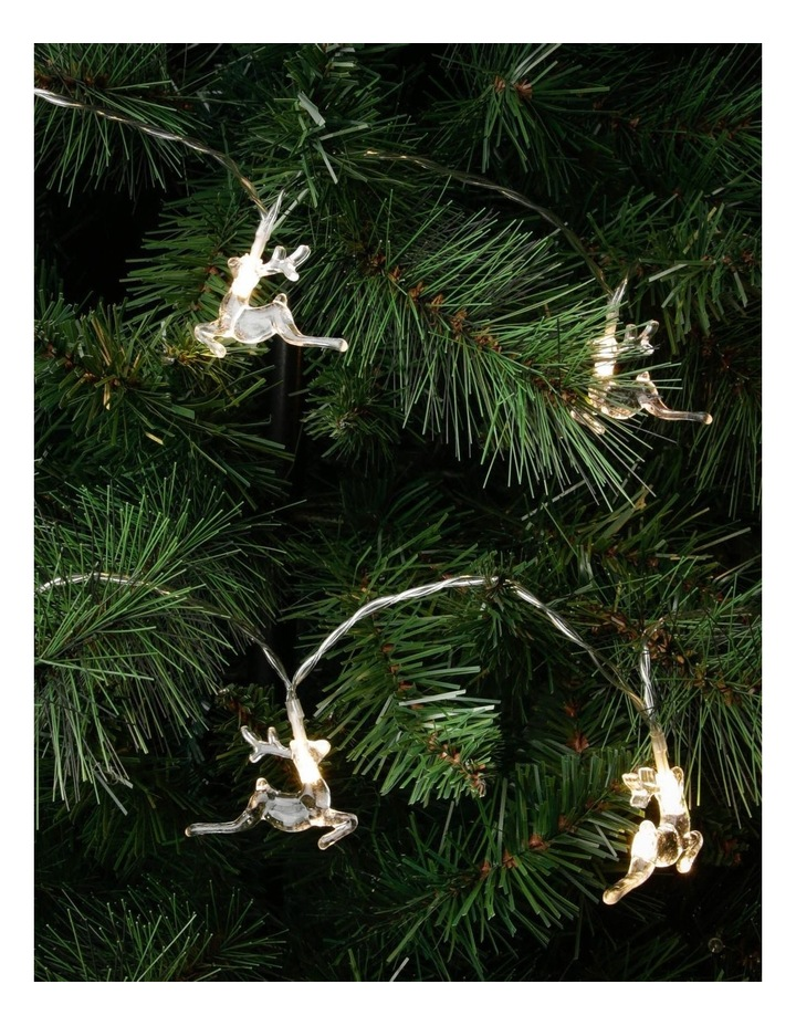 Leaping Reindeer Christmas Lights - String of 10 image 3
