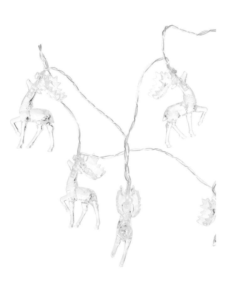 Reindeer Christmas Lights - String of 10 image 2