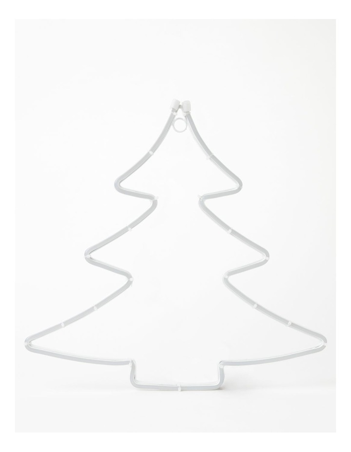 Merry & Bright 150L Tree Neon Rope LED Decoration- Green: 40cm image 1