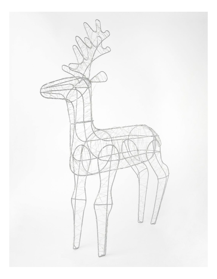 100L Reindeer LED Decoration- Warm White: 75cm image 1