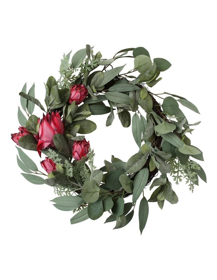 Eucalyptus Faux Protea & Native Foliage Wreath image 1