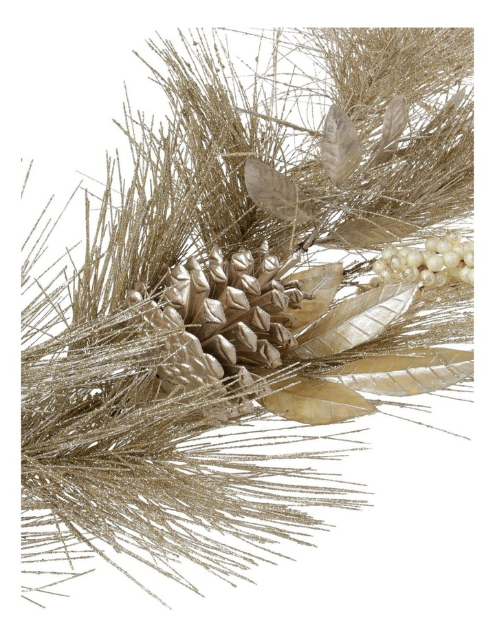 Luxe Glittered Pine, Faux Pinecones, Berries & Leaves Garland- Champagne: 180 cm image 3