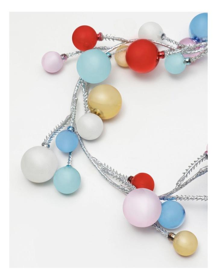 Merry & Bright Plastic Rainbow Bauble Garland- Multi: 165cm image 2