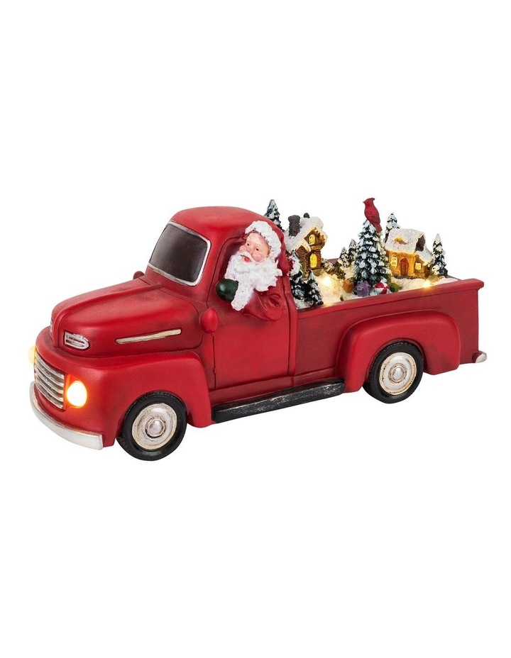 Animated Red Christmas Truck image 1