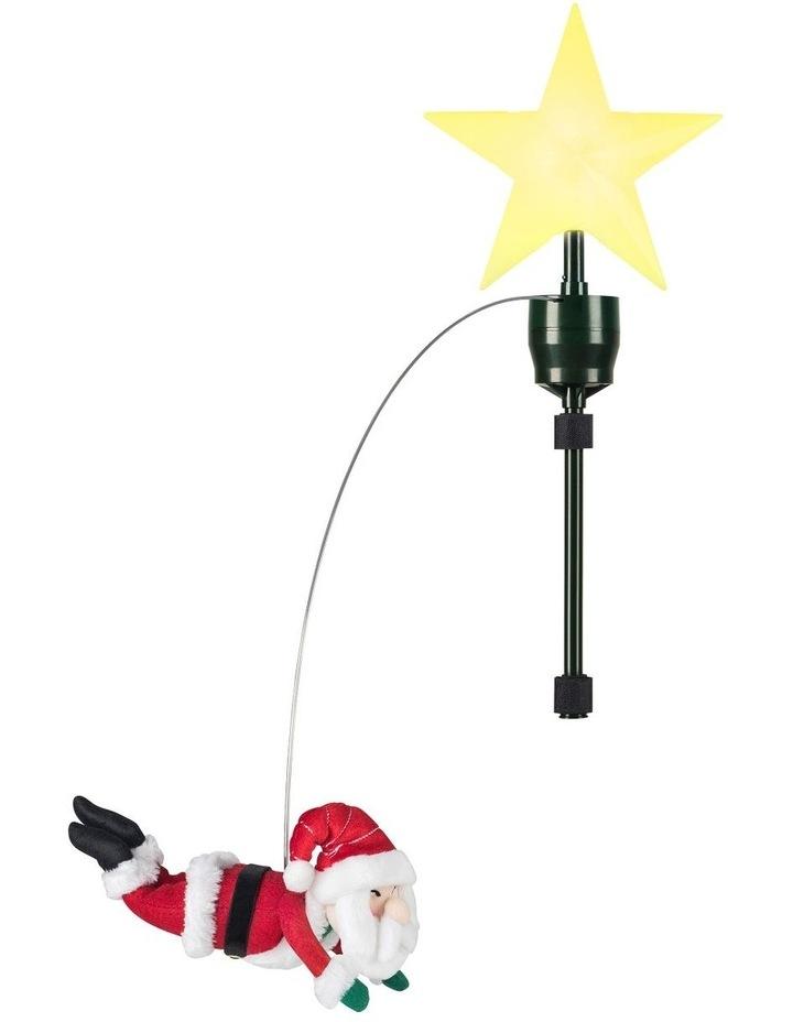 Mr. Christmas Animated Tree Topper - Flying Santa image 1