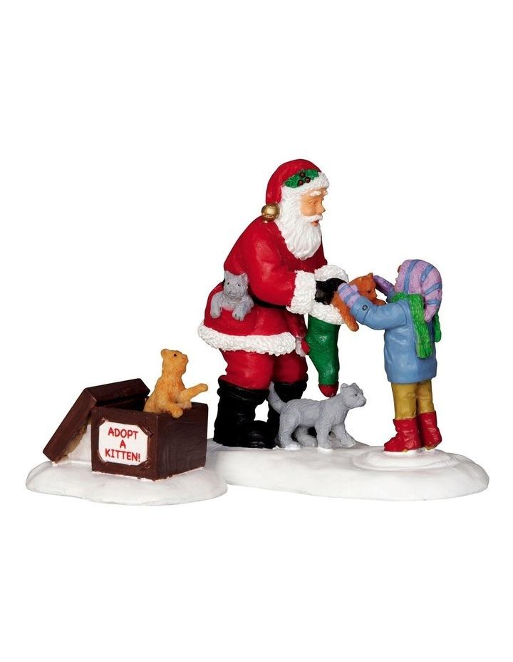 Santa & Kittens Set Of 2 image 1