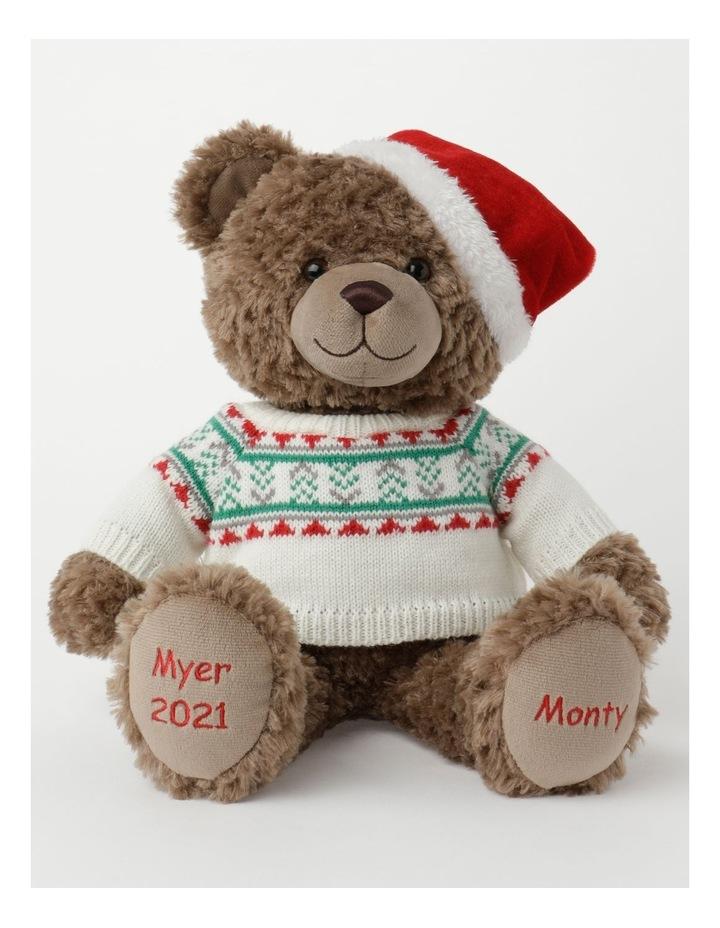 Monty 2021 Christmas Charity Bear- Chocolate: 40Cm image 1