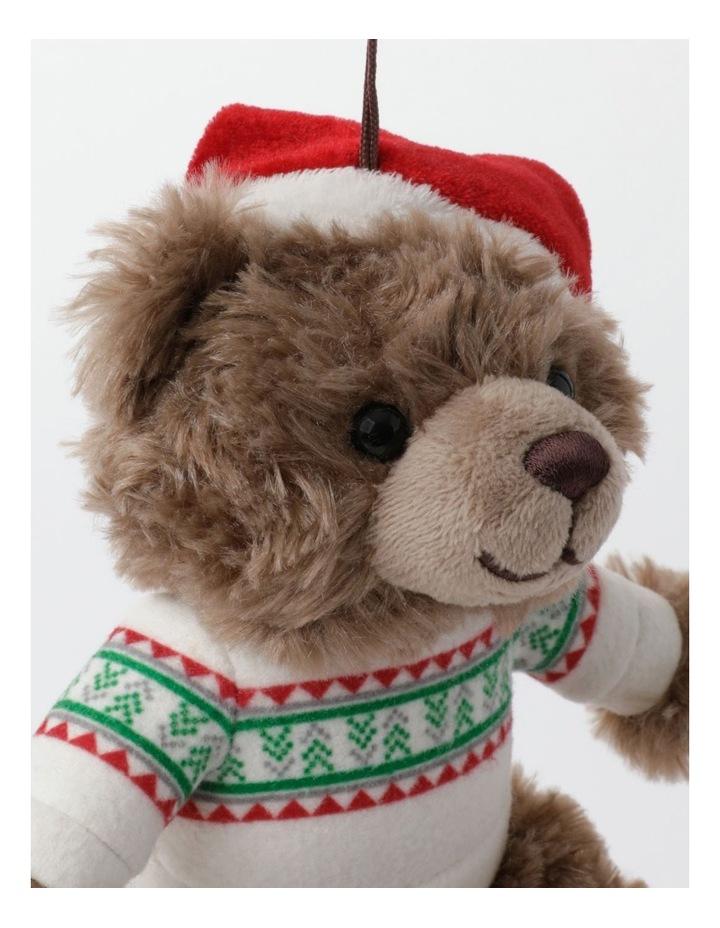 Myer Giftorium 2021 Monty Charity Bear Hanging Plush- Chocolate: 13cm image 2