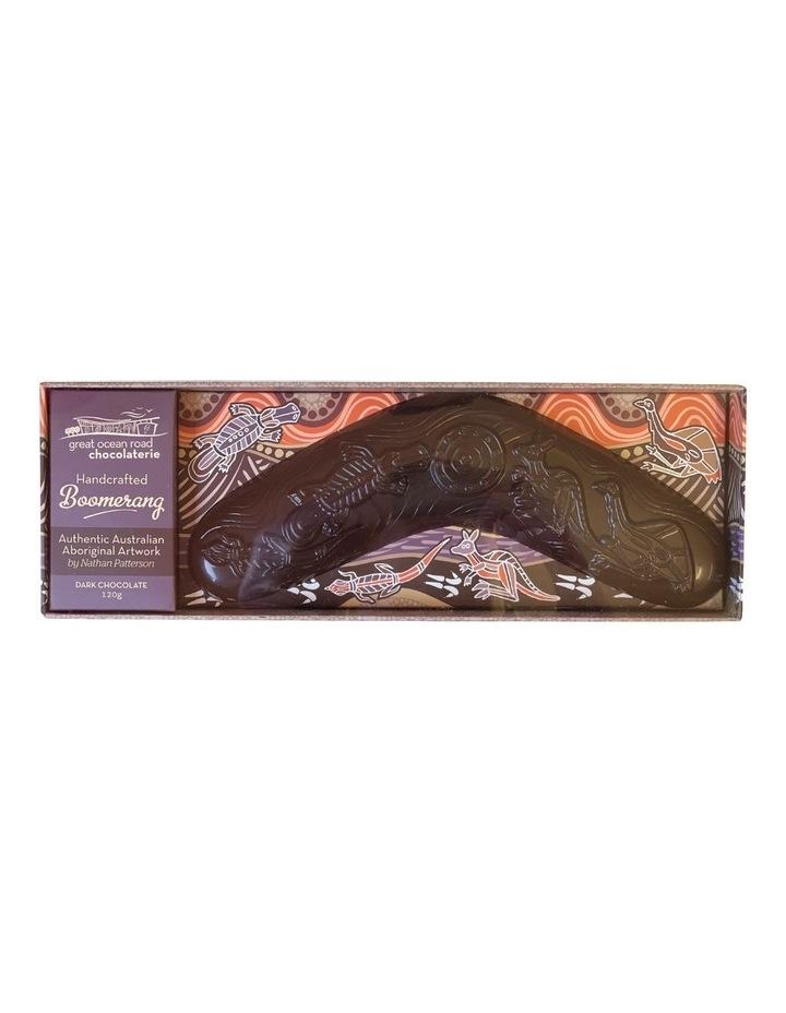 Handcrafted Dark Chocolate Boomerang image 1