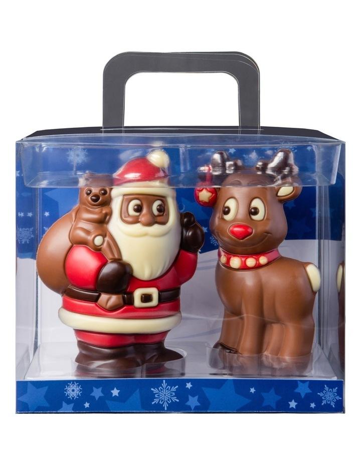 Santa Claus w/Reindeer Acetate Mk image 1