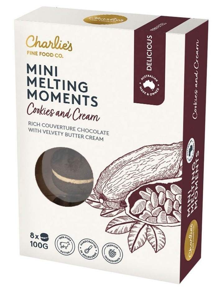Charlie's Mini Melting Moments Cookies & Cream 100g image 1