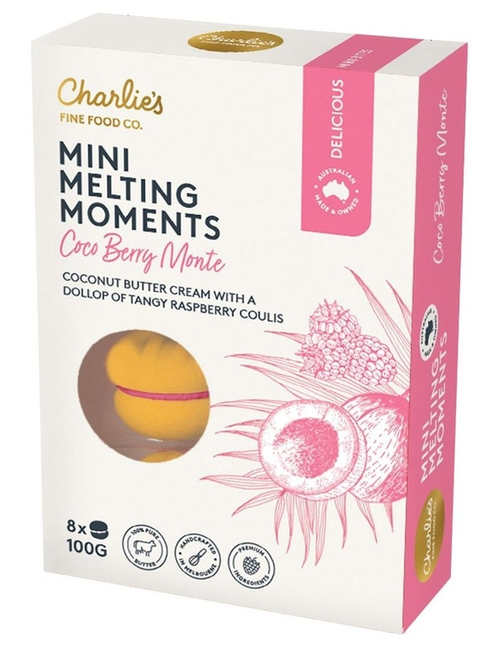 Charlie's Mini Melting Moments Coco Berry Monte Carlo 100g image 1