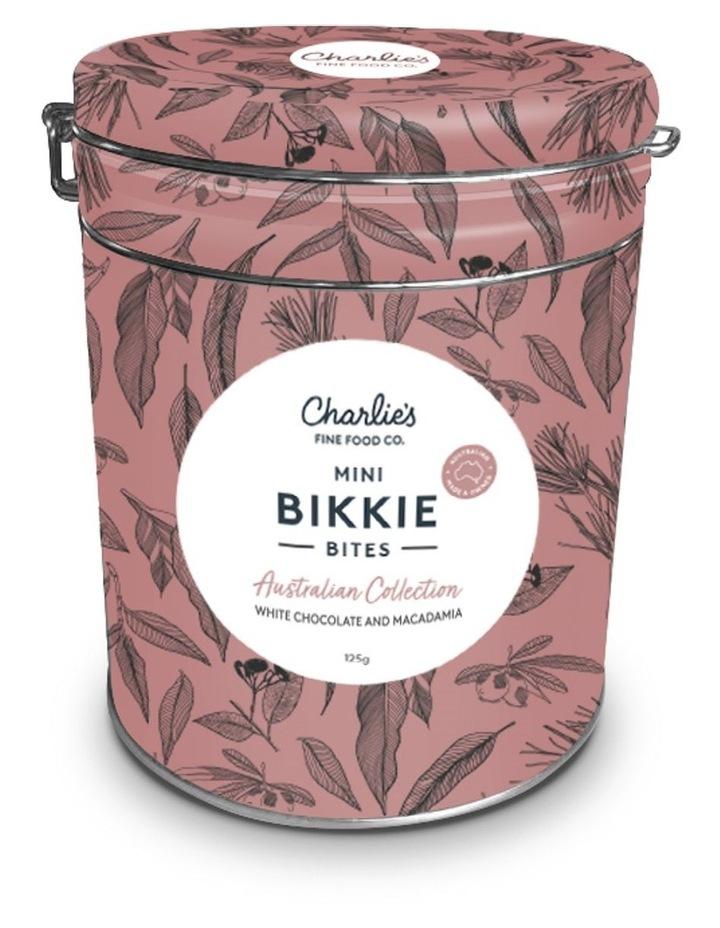 Charlie's Aussie Bikkie Bites Tin - White Macadamia Chocolate 125g image 1